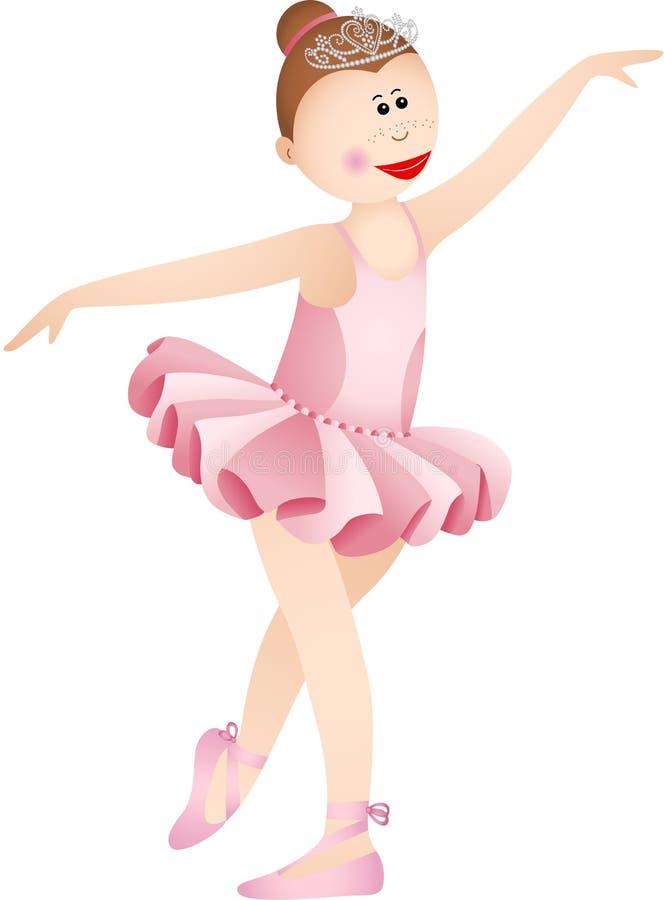 Fille de ballerine dans un tutu rose illustration de vecteur