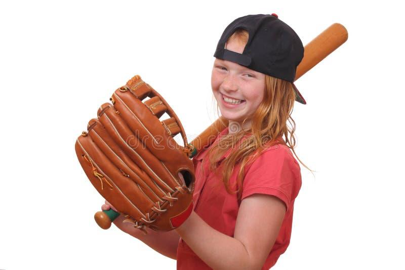 Fille de base-ball photographie stock libre de droits
