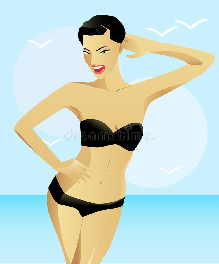 Fille de bikini illustration de vecteur