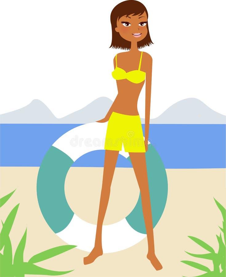 Fille de bikini illustration libre de droits