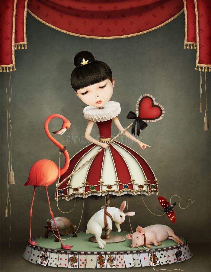 Fille de carrousel illustration stock