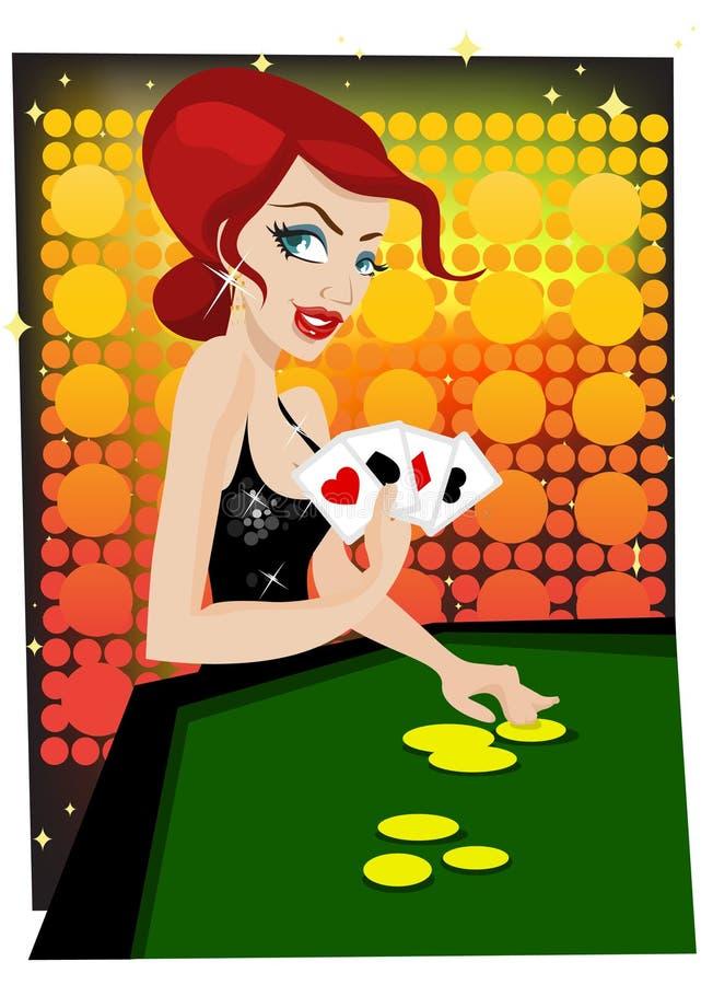 Fille de casino illustration de vecteur