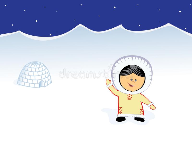 Fille de Chukchi illustration stock