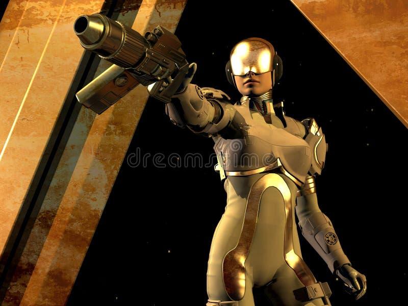 Fille de cyborg illustration libre de droits