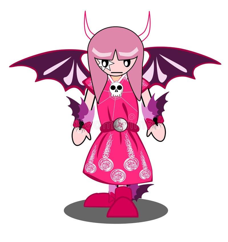 Fille de démon illustration de vecteur