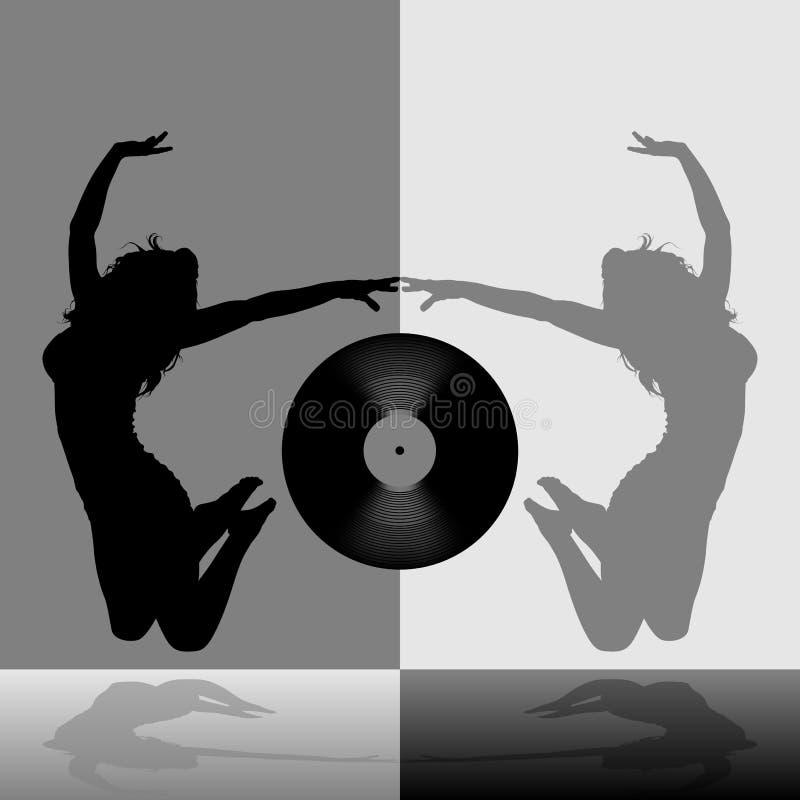 Fille de danse 07 illustration stock