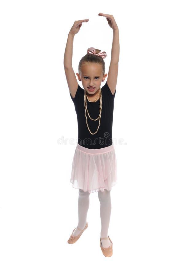Fille de danse sur le blanc photo stock