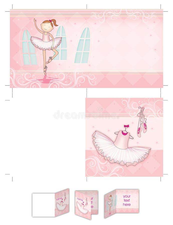 Fille de danseur classique illustration stock