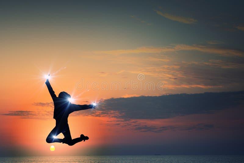 Fille de danseur dans le saut photo libre de droits