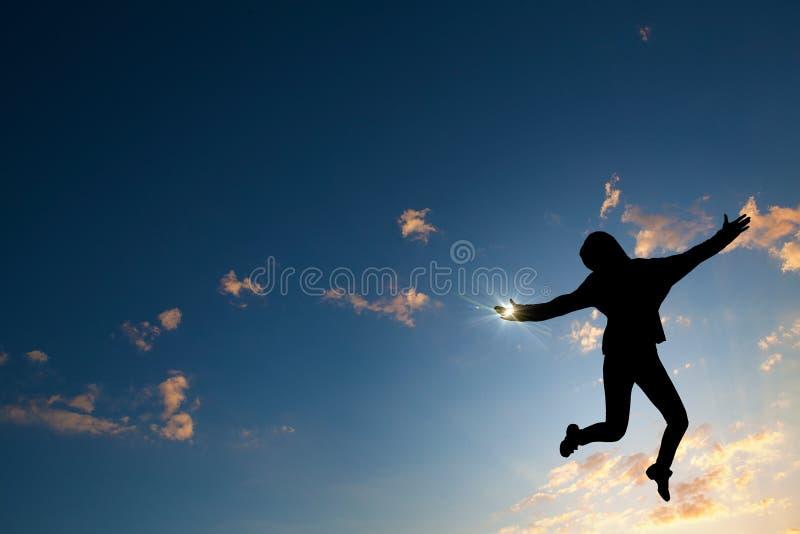 Fille de danseur dans le saut photo stock