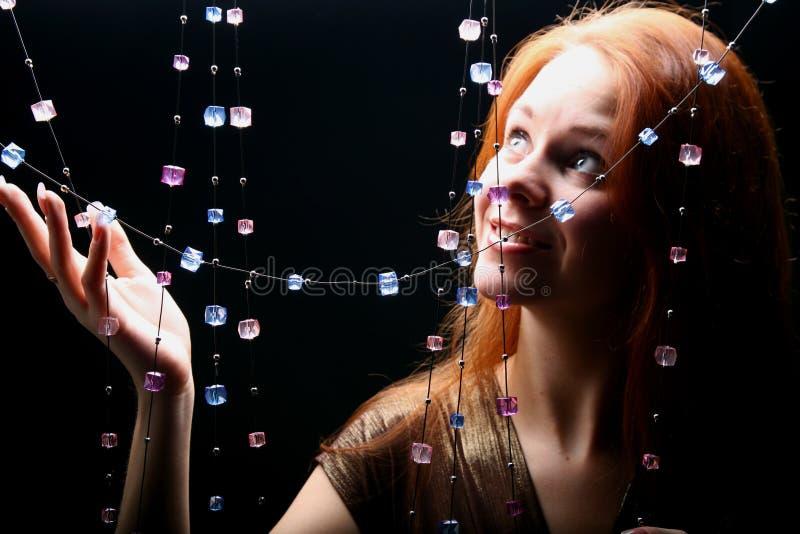 Fille de diamants photo libre de droits