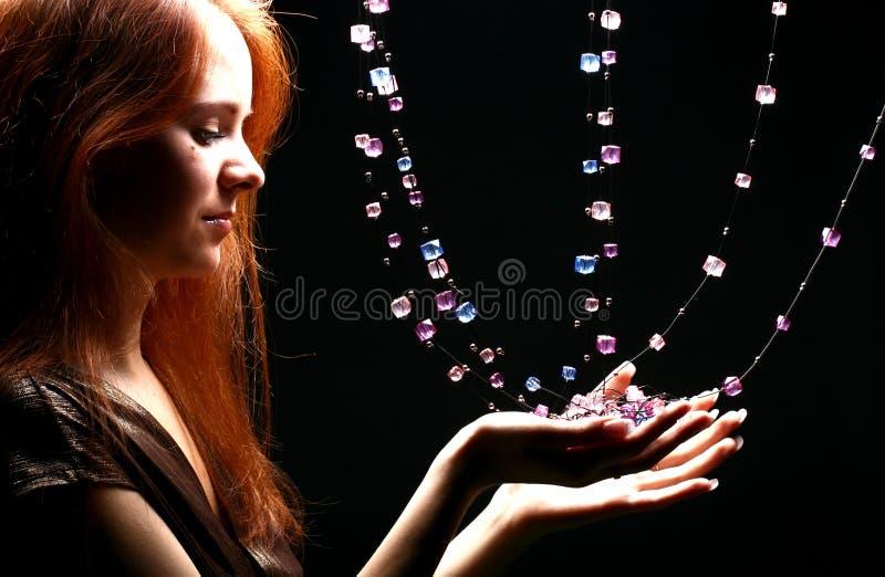 Fille de diamants photos stock