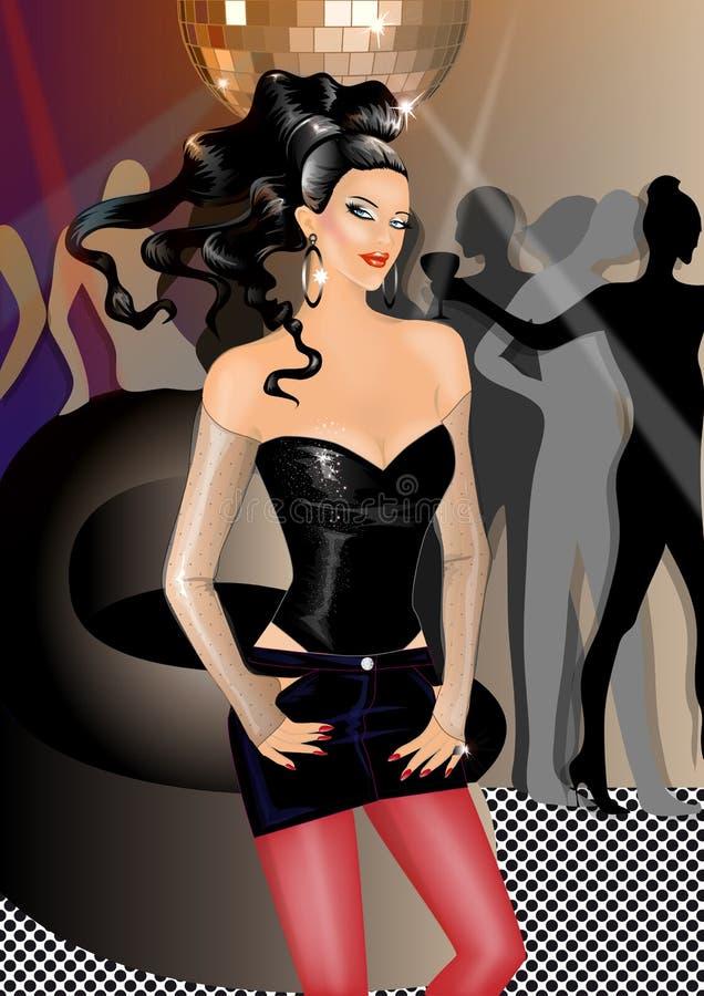 Fille de disco illustration stock