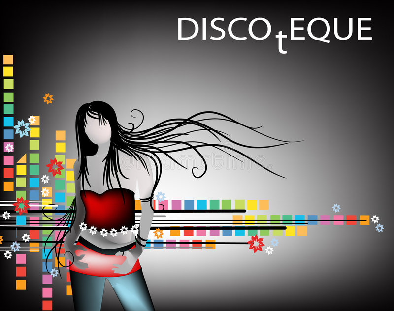 Fille de disco illustration libre de droits