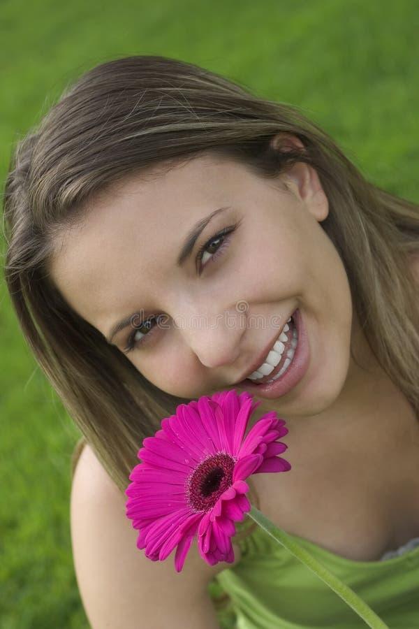 Fille de fleur photos libres de droits