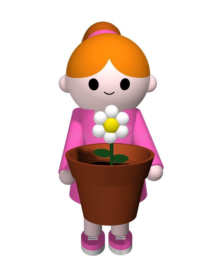 Fille de fleur illustration stock