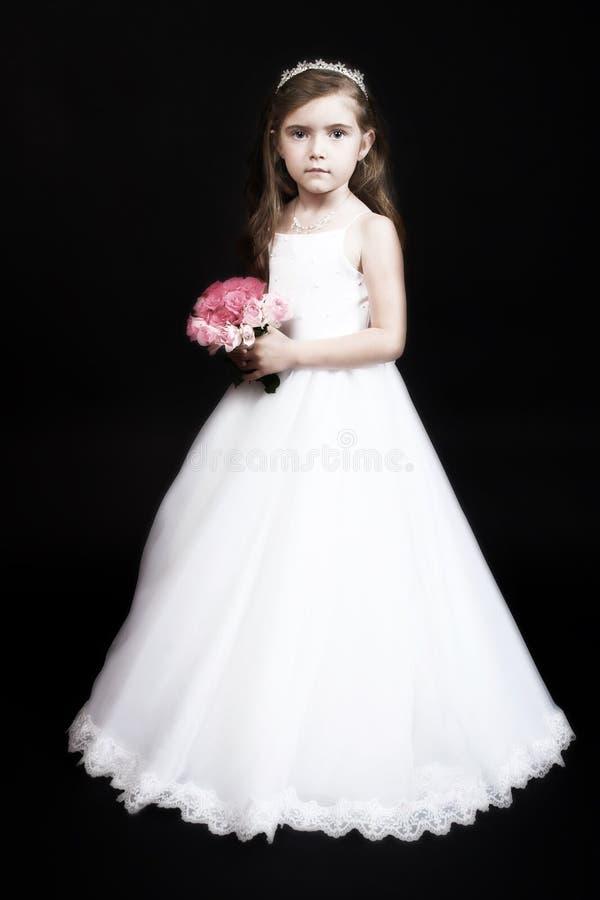 Fille de fleur avec des roses image libre de droits