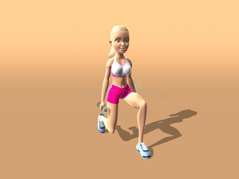 Fille de forme physique : Jambes et bout