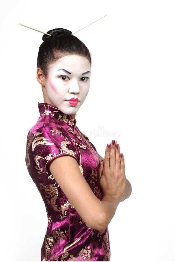 Fille de geisha images libres de droits