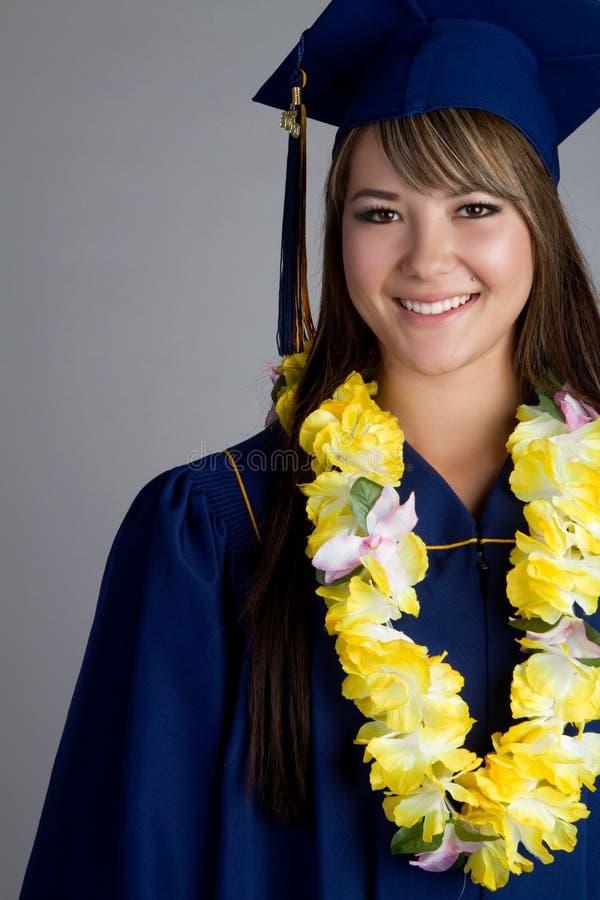 Fille de graduation photographie stock