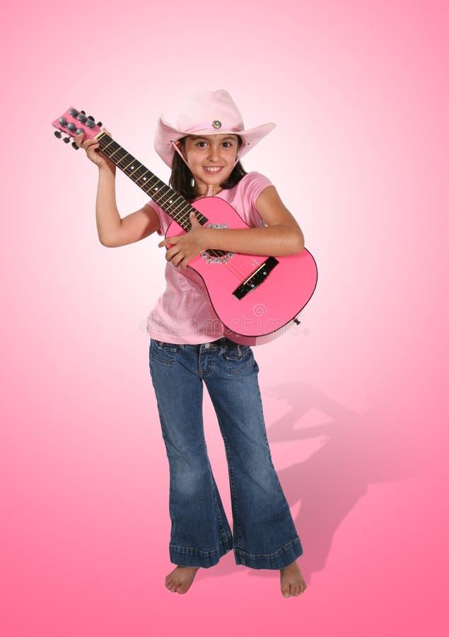 Fille de guitare photo stock