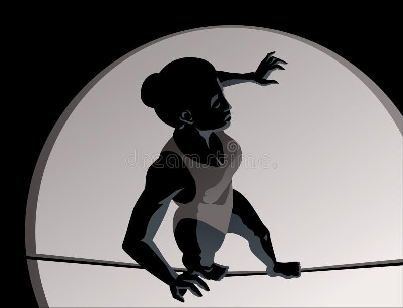Fille de haut fil illustration de vecteur