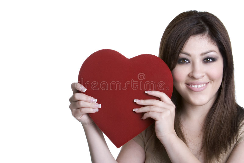 Fille de jour de Valentines photo libre de droits