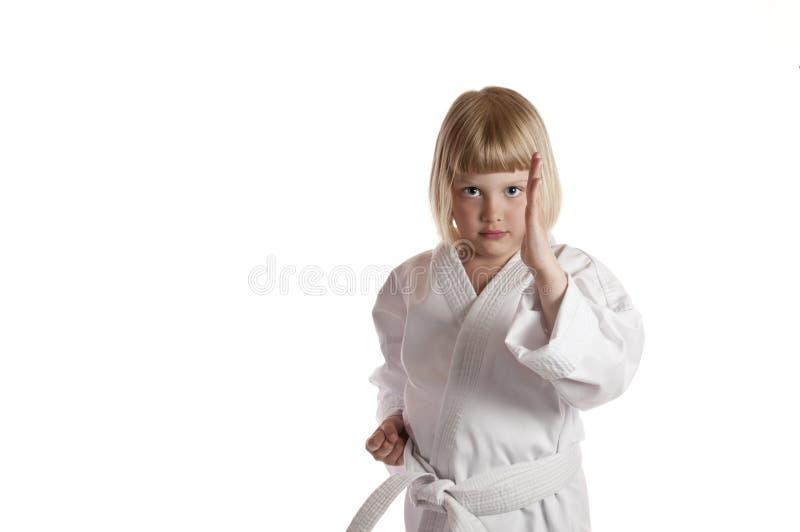 Fille de karaté photo libre de droits