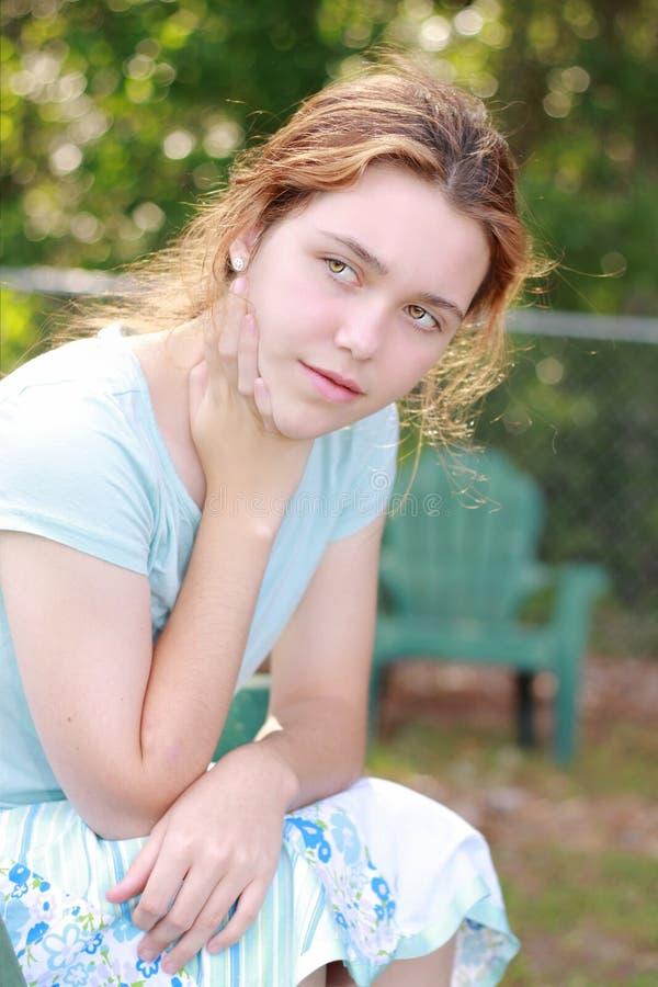 Fille de l'adolescence images stock
