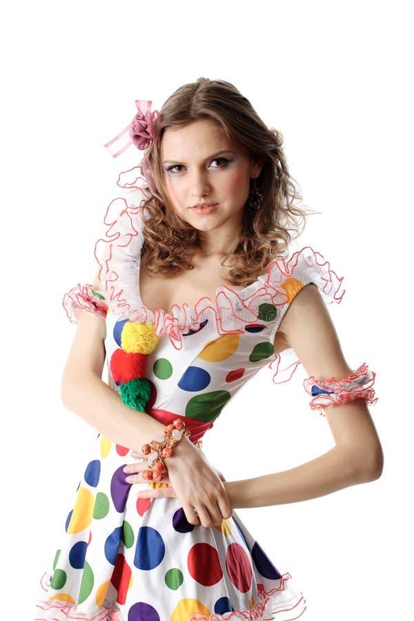 Fille de l'adolescence dans la robe de réception image stock