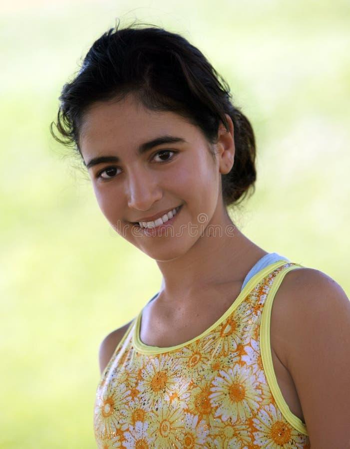 Fille de l'adolescence indienne photo libre de droits