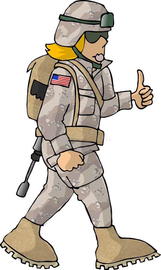 Fille de l'armée américain illustration stock