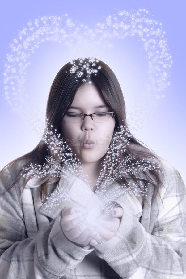 Fille de l'hiver photo libre de droits