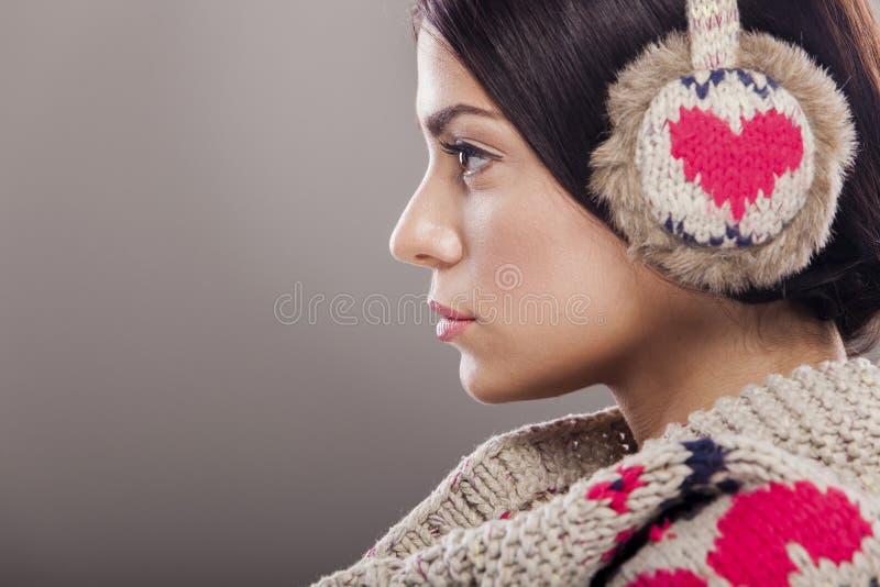 Fille de l'hiver photos libres de droits
