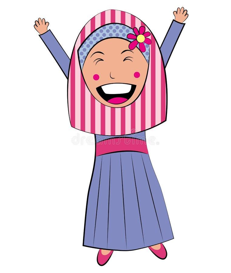 Fille de l'Islam heureuse photo stock