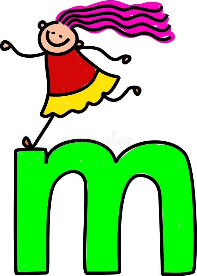 Fille de la lettre M illustration de vecteur