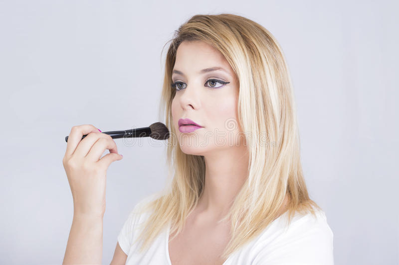 Fille de maquillage images stock