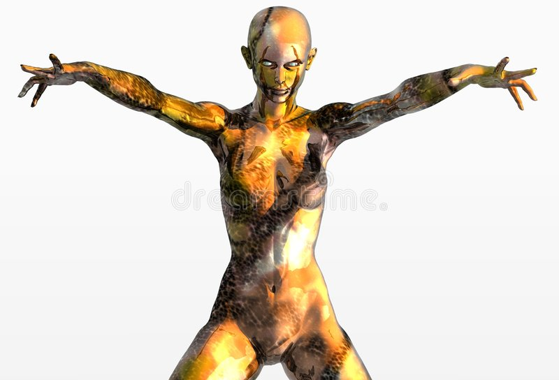 Fille de marbre d'or et de bronze illustration libre de droits