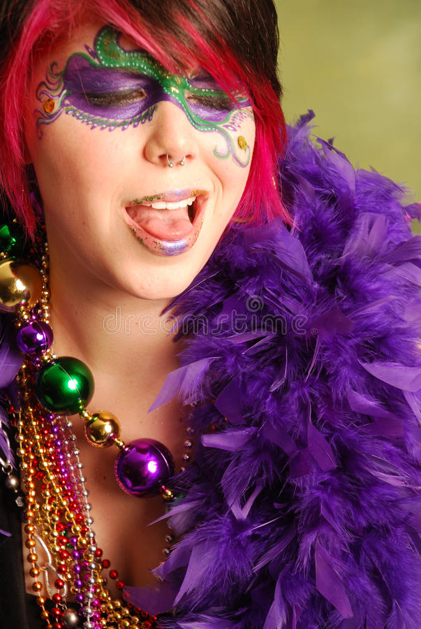 Fille de mardi gras photo stock