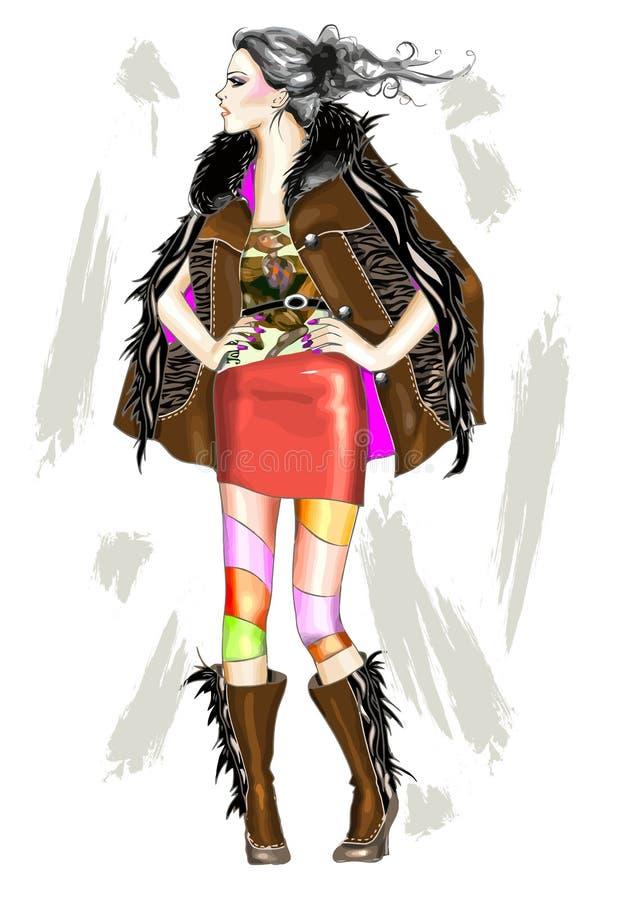 fille de mode illustration libre de droits