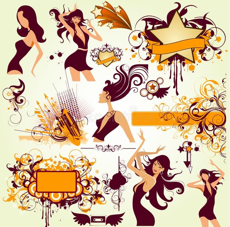 Fille de mode illustration stock
