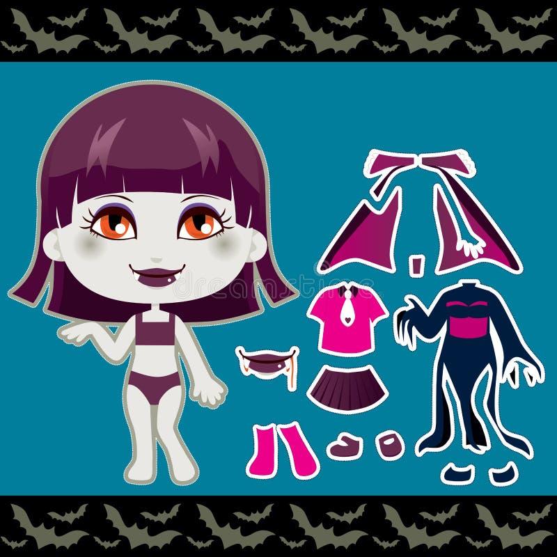 Fille de mode de vampire illustration stock