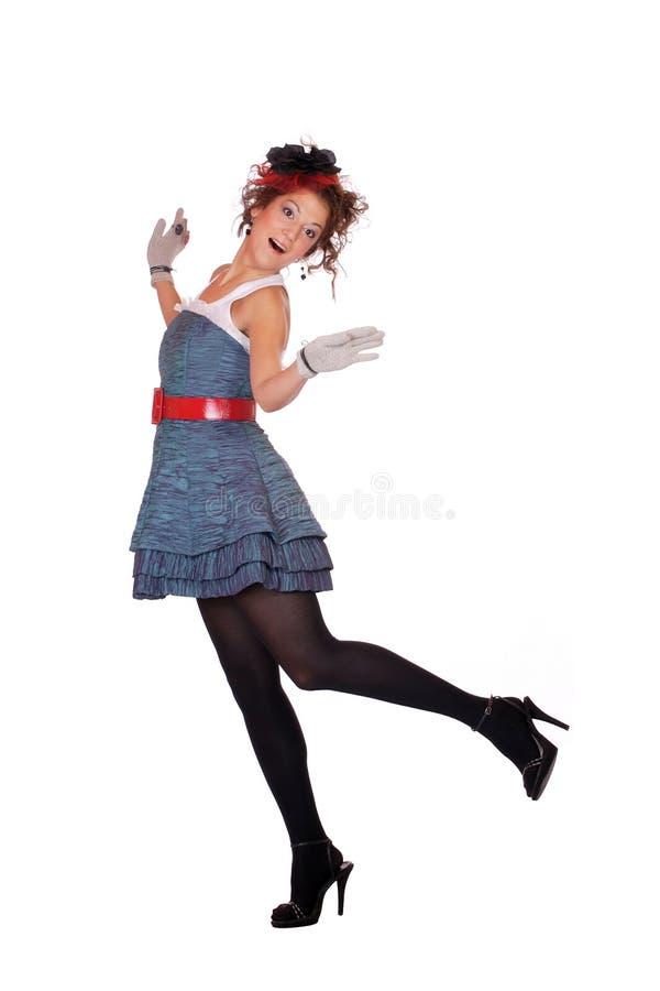 Fille de mode posant sur le fond blanc photo libre de droits