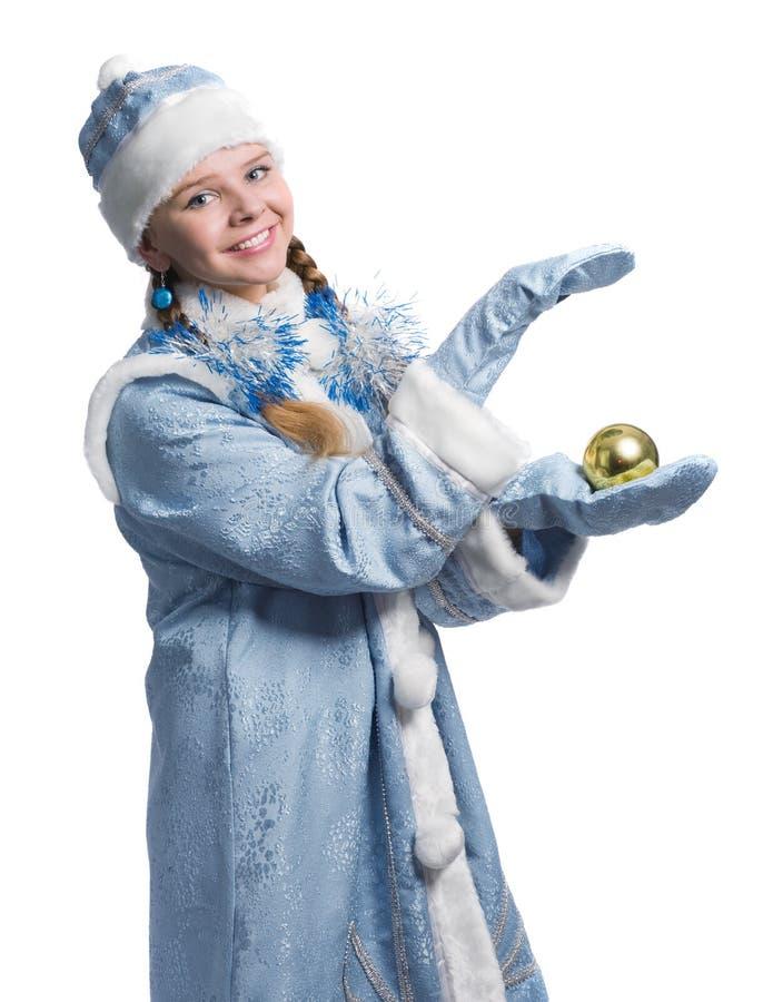 Fille de neige photographie stock libre de droits