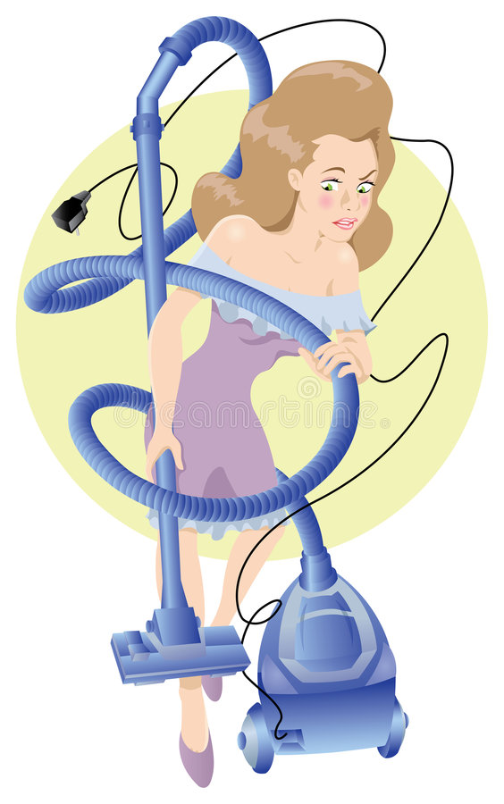 Fille de nettoyage illustration libre de droits