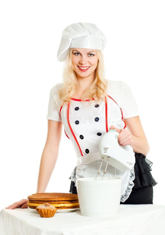 Fille de pâtisserie image stock