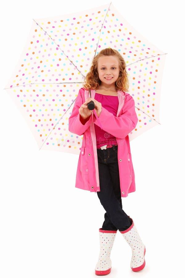 Fille de parapluie photo libre de droits