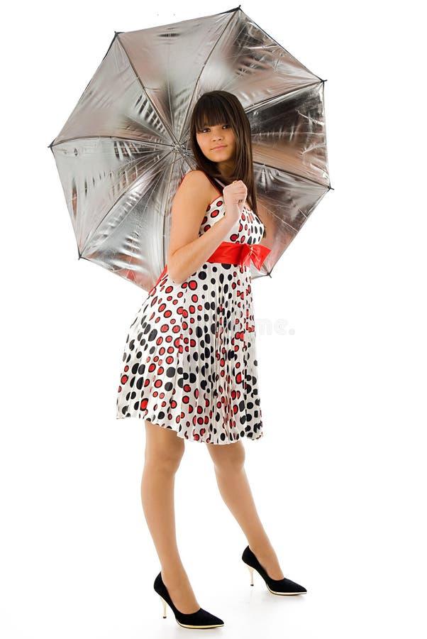 Fille de parapluie photos stock