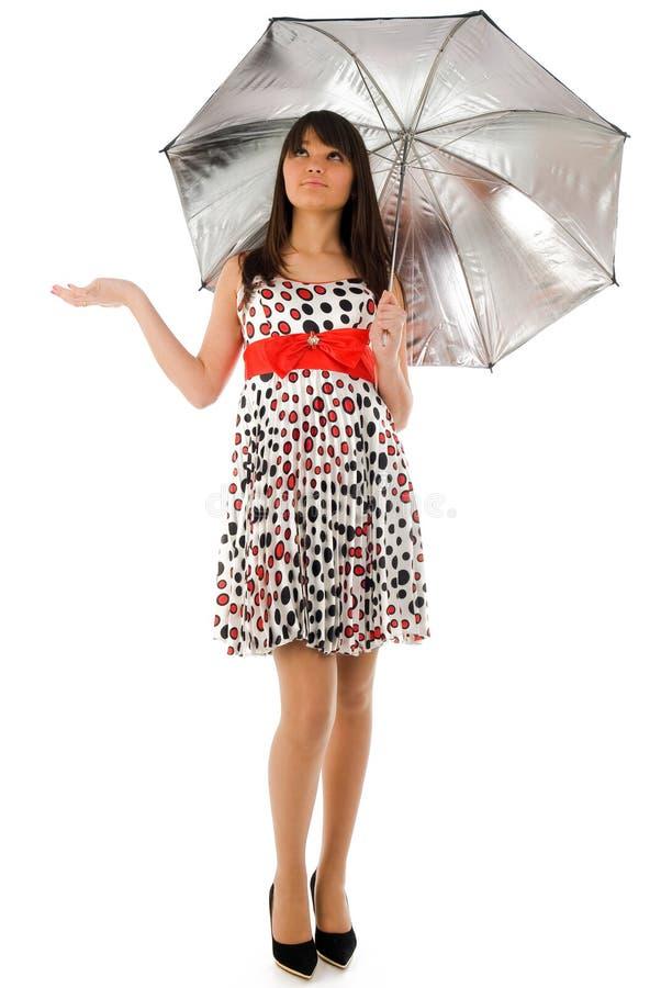 Fille de parapluie images stock