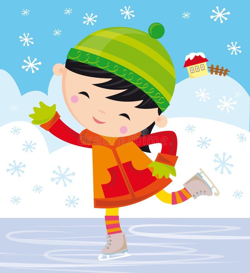 Fille de patins de glace illustration libre de droits